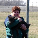 Yvonne and 1st heifer of 07